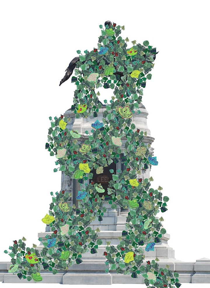 Aaron McIntosh, To Grow Fiercely from Poor Soil: Monument Invasion (Robert E. Lee Monument), 2018. Photo by John Dean. Courtesy of the artist.