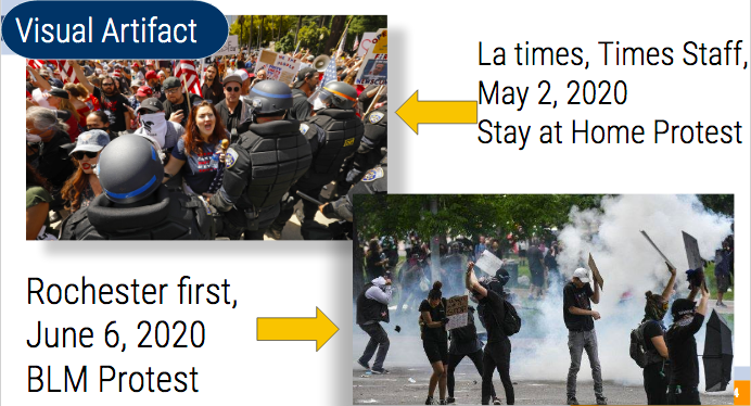 3. Becky Montes, Photographs, Contrast Of Two Protests And Police Response