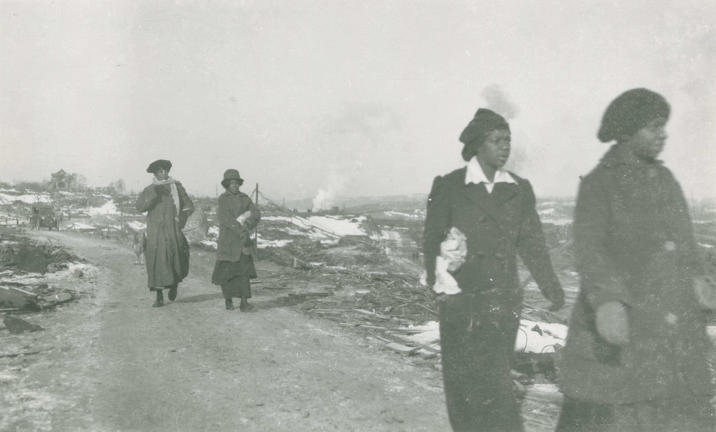 Women Walking From Africville Towards Halifax, On Campbell Road Near Hanover Street (15318268313)+(1)