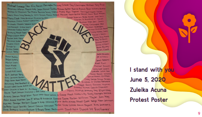 4. Zuleika Acuna, Construction Paper And Pen, Blm Protest Sign